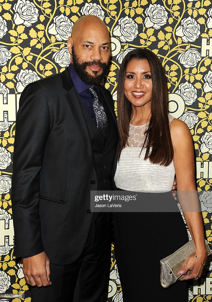Writer John Ridley and wife Gayle Ridley attend HBO's post 2016 Golden Globe Awards party at Circa 55 Restaurant on January 10, 2016 in Los Angeles, California.