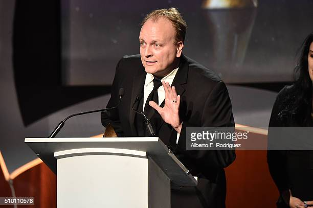 Writer John Stafford accepts the Outstanding Achievement in Videogame Writing award for 'Rise of the Tomb Raider' onstage during the 2016 Writers...