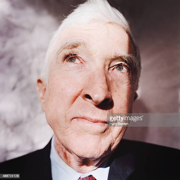 Writer John Updike is photographed for the Telegraph on May 29 2004 in London England