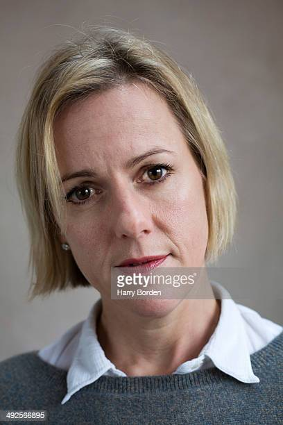 Writer Jojo Moyes is photographed for Stern magazine on December 2 2013 in Saffron Walden England