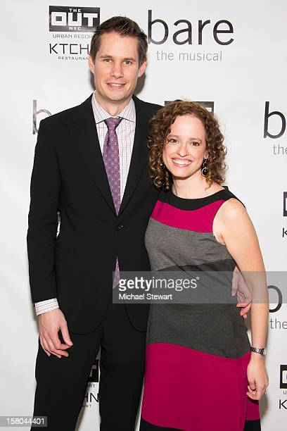 Writer Jon Hartmere and composer Lynne Shankel attend BARE The Musical Opening Night After Party at Out Hotel on December 9 2012 in New York City