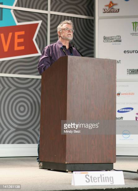 Writer Jon Lebkowsky speaks onstage at The Ultimate Bruce Sterling Talk during the 2012 SXSW Music Film Interactive Festival at Austin Convention...