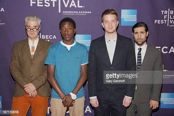 Writer Jon Savage, actor Malik Peters, director Matt Wolf and producer Jason Schwartzman attend the screening of 'Teenage' during the 2013 Tribeca...