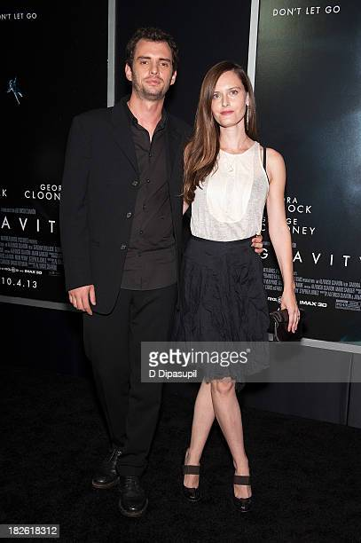 Writer Jonas Cuaron and Eireann Harper attend the Gravity New York premiere at AMC Lincoln Square Theater on October 1 2013 in New York City