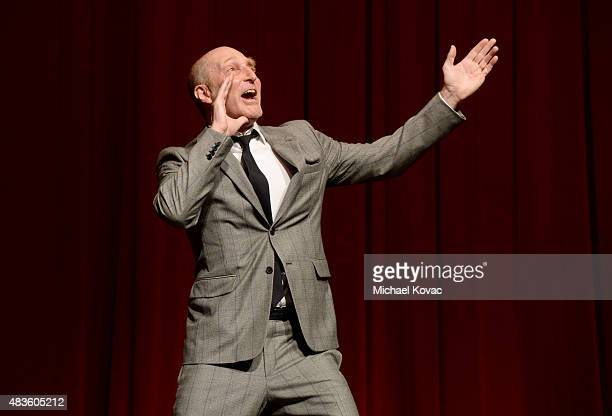 Writer Jonathan Ames speaks onstage at the STARZ' Blunt Talk series premiere on August 10 2015 in Los Angeles California