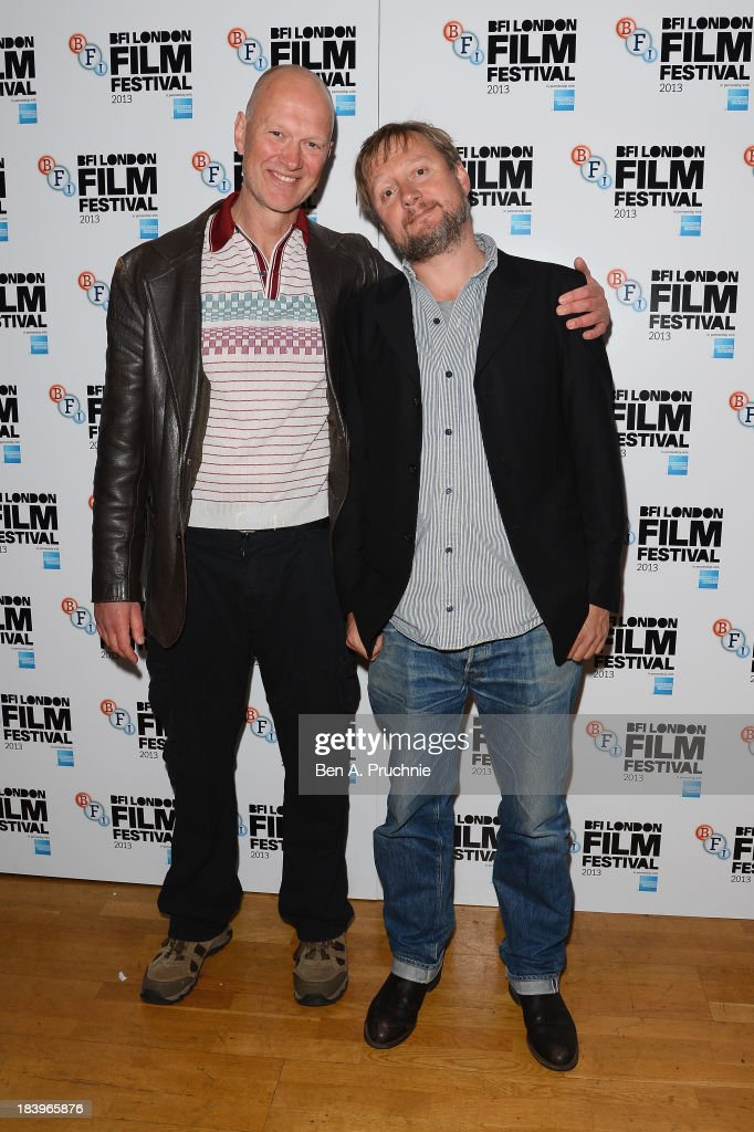 Writer Jonathan Asser and director David MacKenzie attend a screening of 'Starred Up' during the 57th BFI London Film Festival at Odeon West End on October 10, 2013 in London, England.