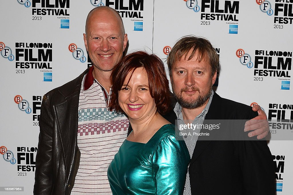 Writer Jonathan Asser, BFI Head of Cinema and Festivals Clare Stewart and director David MacKenzie attend a screening of 'Starred Up' during the 57th BFI London Film Festival at Odeon West End on October 10, 2013 in London, England.