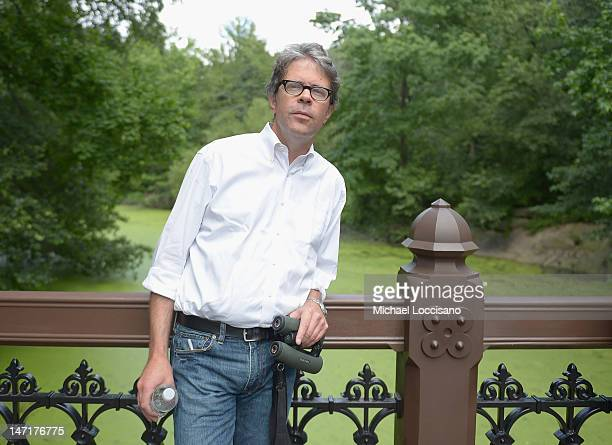 Writer Jonathan Franzen attends the HBO Documentary Films Celebrates 'Birders The Central Park Effect' With A Picnic In The Park on June 26 2012 in...