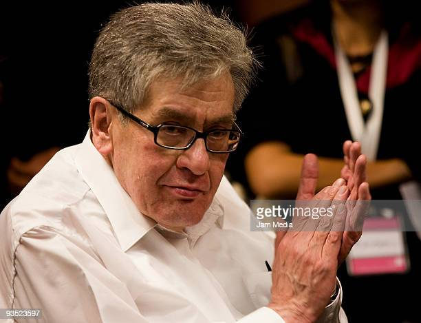 Writer Jose Emilio Pacheco during a conference in his honor after winning the Cervantes prize at the Expo Guadalajara on November 30 2009 in...