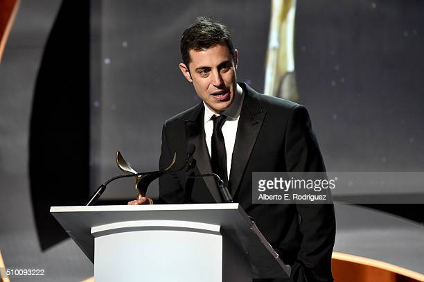 Writer Josh Singer accepts the Original Screenplay award for 'Spotlight' onstage during the 2016 Writers Guild Awards at the Hyatt Regency Century...