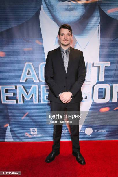 Writer Joshua King attends the Premiere of Agent Emerson at iPic Theater on November 18 2019 in Los Angeles California