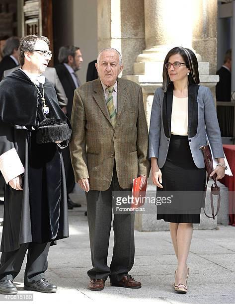 Writer Juan Goytisolo attends the Cervantes Award Ceremony at Alcala de Henares University on April 23 2015 in Alcala de Henares Spain