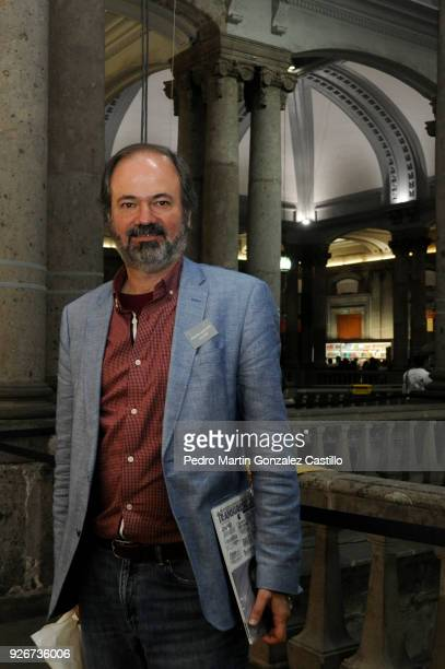 Writer Juan Villoro during the 39th Mexico City International Book Fair at the Palace of Mining on March 02 2018 in Mexico City Mexico