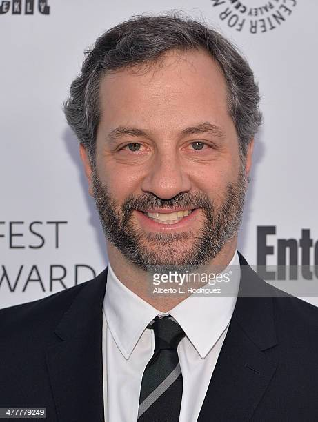 Writer Judd Apatow attends The Paley Center For Media's 2014 PaleyFest Icon Award announcement at The Paley Center for Media on March 10 2014 in...