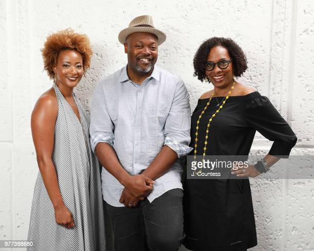 Writer Karin Gist writer/producer Cheo Hodari Coker and writer Kriss Turner Towner pose for a portrait during the 22nd Annual American Black Film...