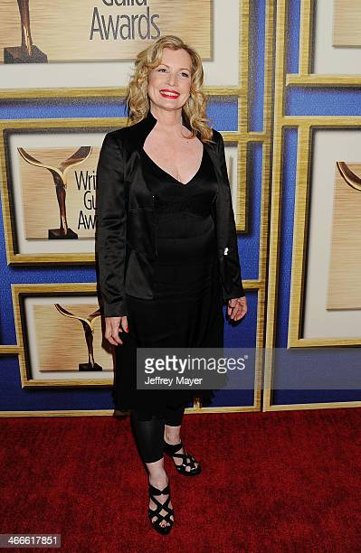 Writer Katherine Fugate arrives at the 2014 Writers Guild Awards LA Ceremony at JW Marriott Los Angeles at LA LIVE on February 1 2014 in Los Angeles...