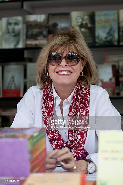Writer Katherine Pancol attends a book signing event during 'Books Fair 2012' at the Retiro Park on June 3 2012 in Madrid Spain