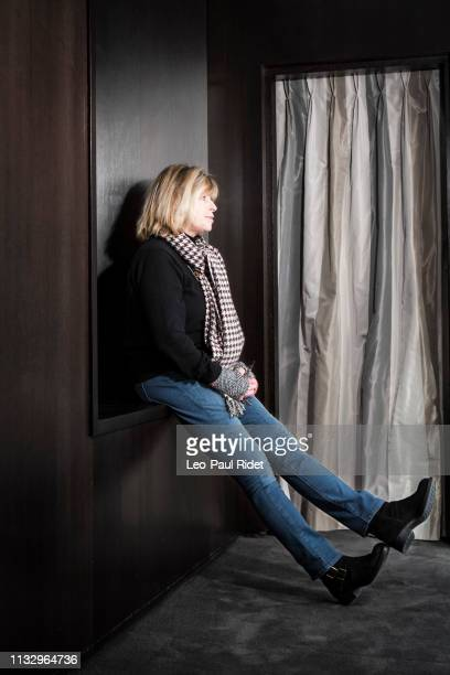 Writer Katherine Pancol poses for a portrait on January 30 2014 in Paris France