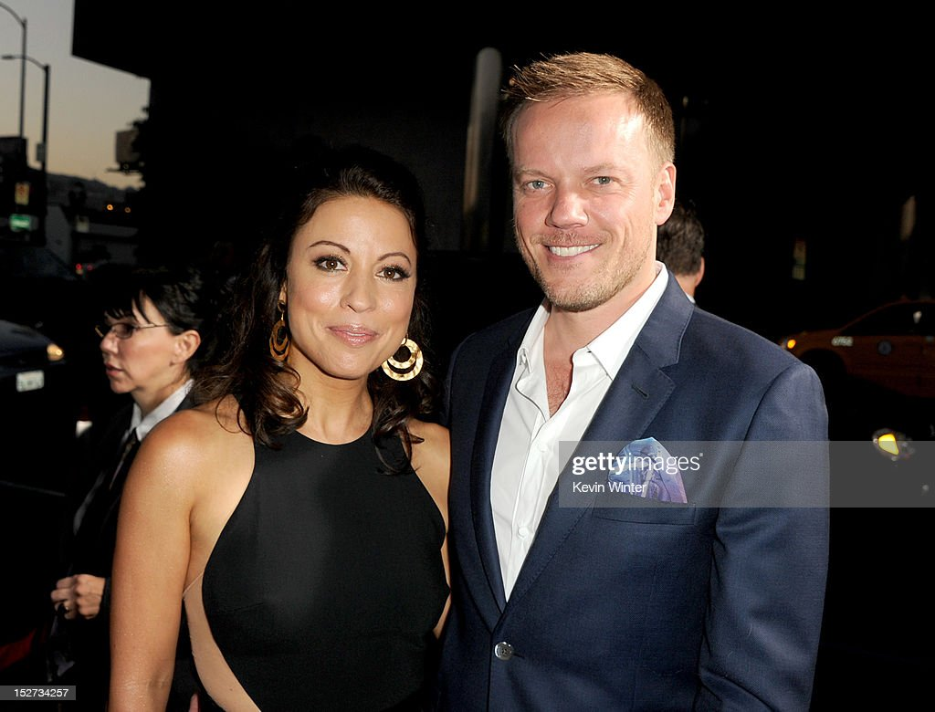 Writer Kay Cannon (L) and director Jason Moore arrive at the premiere of Universal Pictures And Gold Circle Films' 'Pitch Perfect' at ArcLight Cinemas on September 24, 2012 in Hollywood, California.