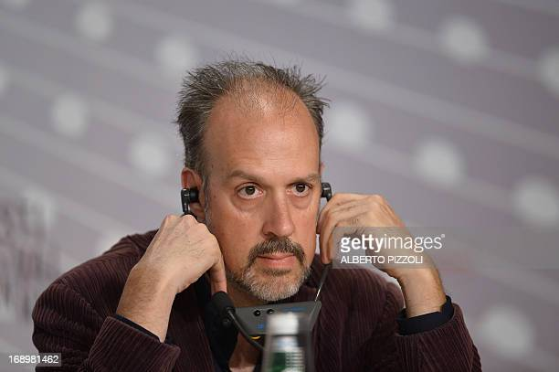 US writer Kent Jones listens to journalists' questions on May 18 2013 during a press conference for the film 'Jimmy P Psychotherapy of a Plains...