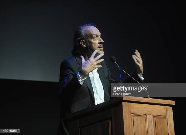 Writer Kent Jones speaks on stage at the Opening Night Gala Presentation and 'The Walk' World Premiere during 53rd New York Film Festival at Alice...