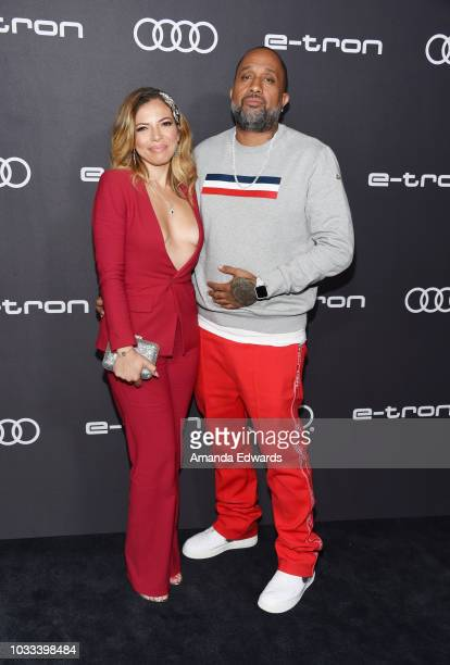 Writer Kenya Barris and Dr Rainbow EdwardsBarris arrive at Audi's celebration of The 70th Emmys at Kimpton La Peer Hotel on September 14 2018 in West...