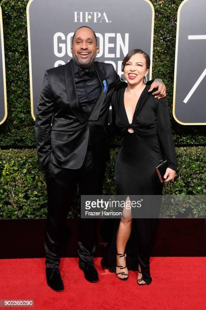 Writer Kenya Barris and Dr Rainbow EdwardsBarris attend The 75th Annual Golden Globe Awards at The Beverly Hilton Hotel on January 7 2018 in Beverly...