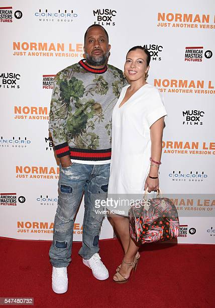 Writer Kenya Barris and Dr Rainbow EdwardsBarris attend the Los Angeles Premiere of NORMAN LEAR JUST ANOTHER VERSION OF YOU on July 14 2016 in Los...