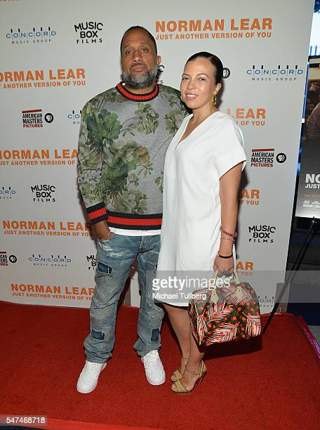 Writer Kenya Barris and Dr Rainbow EdwardsBarris attend the premiere of Music Box Films' Norman Lear Just Another Version Of You at The WGA Theater...