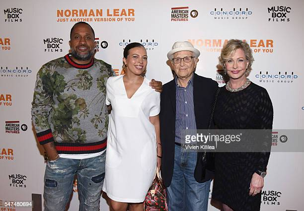 Writer Kenya Barris Dr Rainbow EdwardsBarris activist and philanthropist Lyn Lear and TV Producer Norman Lear attend the Los Angeles Premiere of...
