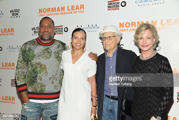 Writer Kenya Barris Dr Rainbow EdwardsBarris producer Norman Lear and Lyn Lear attend the premiere of Music Box Films' Norman Lear Just Another...