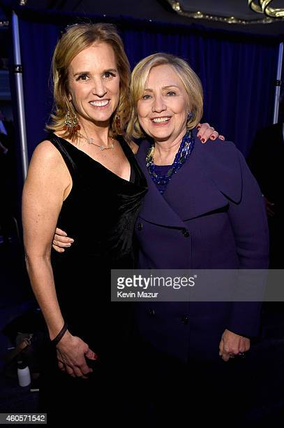 Writer Kerry Kennedy and Honoree Hillary Rodham Clinton attend the RFK Ripple Of Hope Gala at Hilton Hotel Midtown on December 16 2014 in New York...