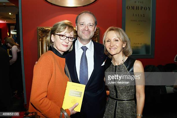 Writer Ketty PucciSisti Maisonrouge and Chris and Alison Viehbacher attend 'The Luxury Alchemist' Book Launch Cocktail At Assouline Boutique on...