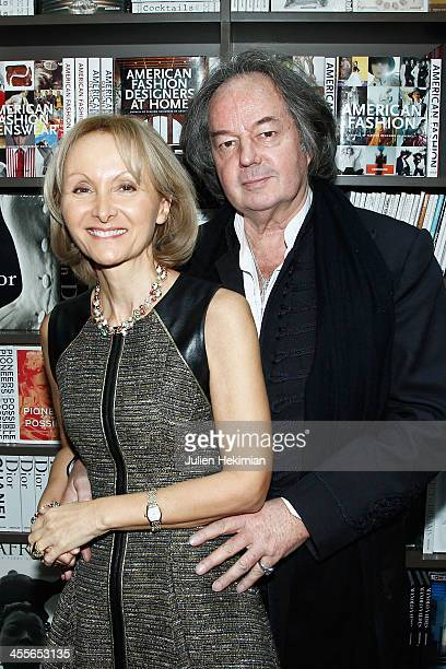 Writer Ketty PucciSisti Maisonrouge and Gonzague Saint Bris attend 'The Luxury Alchemist' Book Launch Cocktail At Assouline Boutique on December 12...