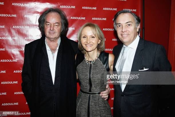 Writer Ketty PucciSisti Maisonrouge is pictured with Francois Delahaye and Gonzague Saint Bris during 'The Luxury Alchemist' Book Launch Cocktail At...