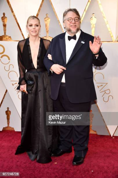 Writer Kim Morgan and director Guillermo del Toro attend the 90th Annual Academy Awards at Hollywood Highland Center on March 4 2018 in Hollywood...