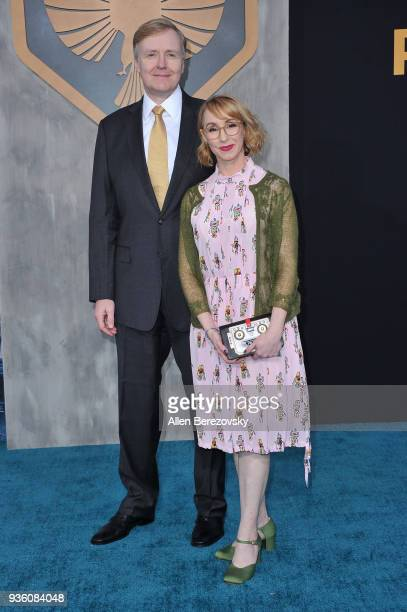 Writer Kira Snyder and a guest attend the premiere of Universal's 'Pacific Rim Uprising' at TCL Chinese Theatre IMAX on March 21 2018 in Hollywood...