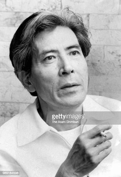 Writer Kunio Ogawa speaks during the Asahi Shimbun interview on September 2 1987 in Fuieda Shizuoka Japan