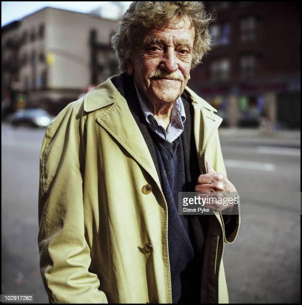 Writer Kurt Vonnegut poses for a portrait shoot in New York, USA.