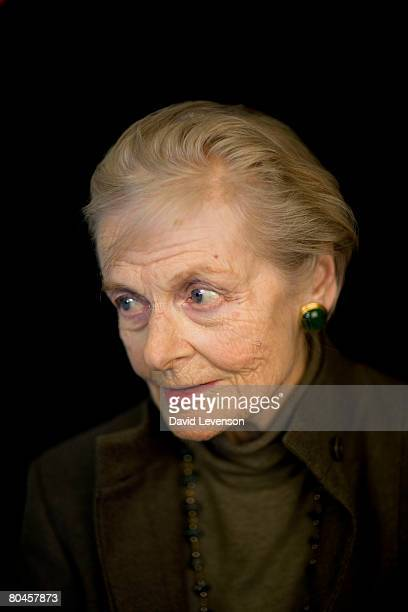 Writer Lady Clarissa Eden poses for a portrait at the annual Sunday Times Oxford Literary Festival held at Christ Church on April 1 2008 in Oxford...