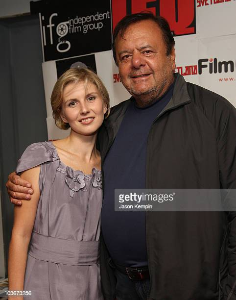 Writer Lana Parshina and actor Paul Sorvino attend the premiere of Svetlana About Svetlana at the City Cinemas Village East on September 25 2008 in...