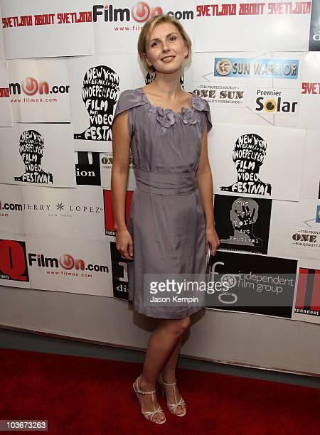 Writer Lana Parshina attends the premiere of Svetlana About Svetlana at the City Cinemas Village East on September 25 2008 in New York City