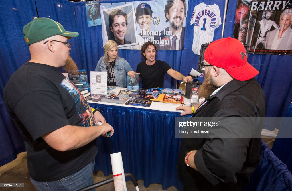 Writer Lani Sarem and actor/musician Thomas Ian Nicholas during the Wizard World Chicago Comic-Con at the Donald E. Stephens Convention Center on August 25, 2017 in Rosemont, Illinois.