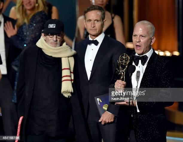 Writer Larry Kramer and director/producer Ryan Murphy accept Outstanding Television Movie for 'The Normal Heart' onstage at the 66th Annual Primetime...