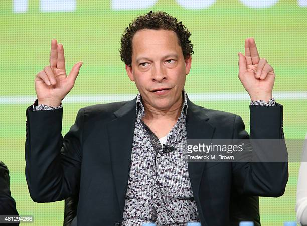 Writer Lawrence Hill speaks onstage during the 'Book of Negroes ' panel at the BET Networks portion of the 2015 Winter Television Critics Association...