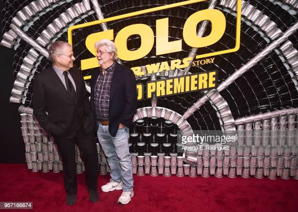 stars and filmmakers attend the world premiere of solo a star wars