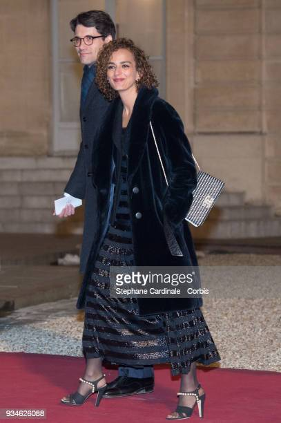 Writer Leila Slimani attends a State dinner at the Elysee Palace on March 19 2018 in Paris France The Duke and Duchess of Luxembourg are on a three...