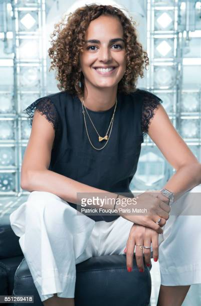 Writer Leila Slimani is photographed for Paris Match on August 29 2017 in Paris France