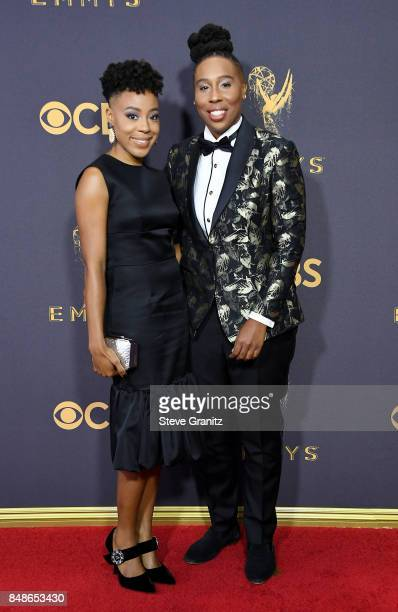Writer Lena Waithe and Alana Mayo attend the 69th Annual Primetime Emmy Awards at Microsoft Theater on September 17, 2017 in Los Angeles, California.