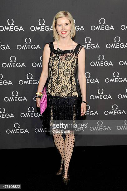 Writer Lily Koppel attends the OMEGA Speedmaster Houston Event at Western Airways Airport Hangar on May 12 2015 in Sugar Land Texas